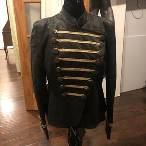 Black and gold Soldier style jacket
